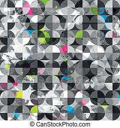 grunge circles seamless pattern