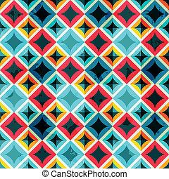 grunge colored mosaic seamless pattern