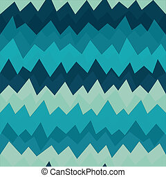 marine zigzag seamless pattern with grunge effect
