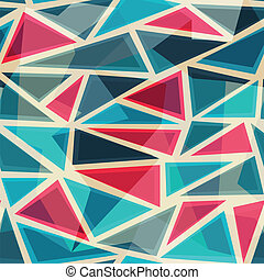 mosaic modern triangles seamless pattern