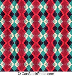 紅色, 菱形, seamless, 圖案, grunge, 影響