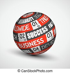 Abstract Business technology sphere of ideas