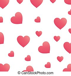 Background with pink hearts