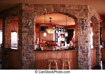 custom bar - a newly designed kitchen bar