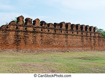 Ancient Fortress Wall of Ayuttaya Territory - The Ancient...
