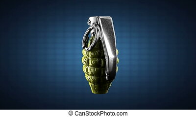 Loop rotating grenade. Alpha matted