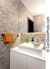 Urban apartment - bathroom - Urban apartment - White basin...