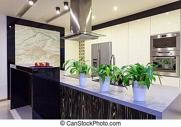 Urban apartment - Travertine kitchen - Urban apartment -...