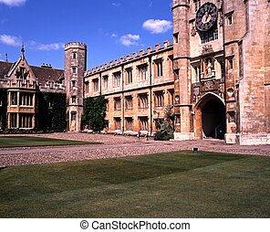 Trinity College, Cambridge, UK. - Trinity College courtyard...