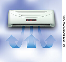 Air conditioner - Cold stream comming from air conditioner...