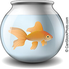 Fishbowl with goldfish eps10