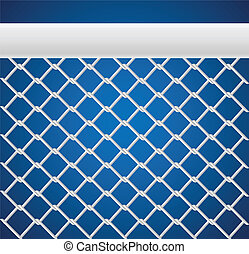 Sport net - White Sport net for games on blue background