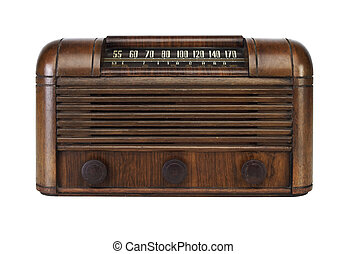 Vintage Tube Radio - Vintage Antique Retro Radio with...