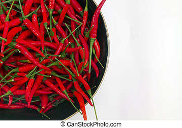chilli pepper - lots of chilli pepper in a bowl