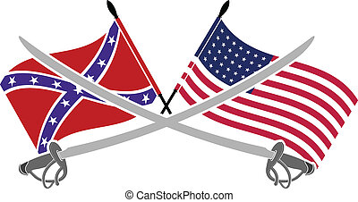 american civil war. stencil. seventh variant. vector...