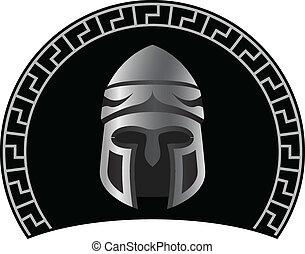 medieval helmet. second variant. vector illustration