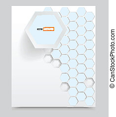 Vector blank Background with and 3d element
