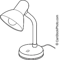 Reading lamps vector