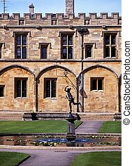 Fountain, Christ Church College. - Fountain in the grounds...