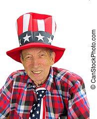 patriotic senior citizen