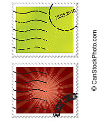 Halftone stamps with halftone design