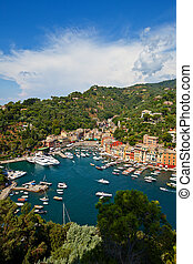 Summer view of Portofino town - Summer view of Portofino...