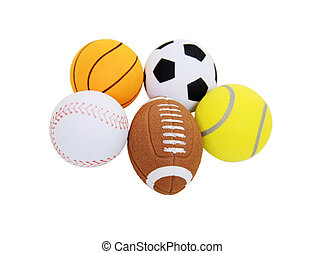 Sports balls - Small toy balls designating sports equipment