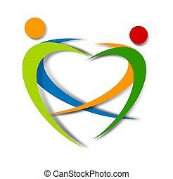 wellness, abstratos, logotipo, desenho