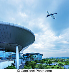 Shanghai Pudong Airports aircraft - Shanghai Pudong Airport...