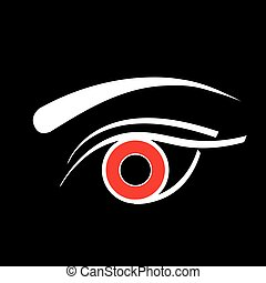 Contact lens business logo
