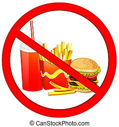 Fast food label - Fast food danger label