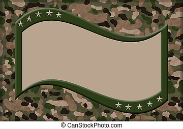 Honoring People who Serve Background - Camouflage Background...