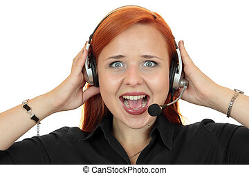 woman screaming on the phone