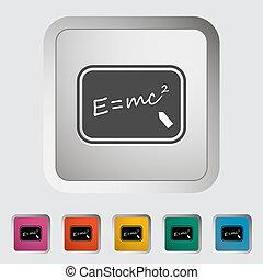 E = mc2 Single icon Vector illustration