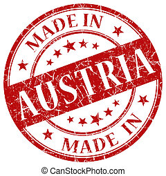 Made In Austria red stamp