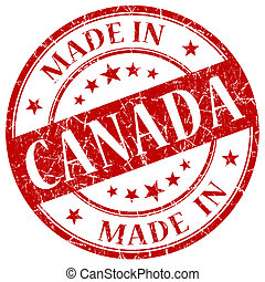 Made In Canada Red stamp