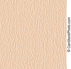Leather texture closeup for background. Vector illustration