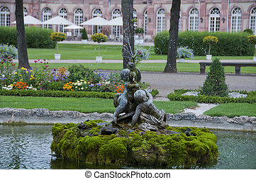fountain in Schwetzingen Castle