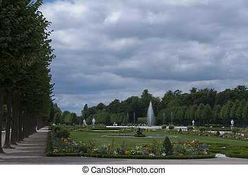 gardens at Schwetzingen park - View of a formal electoral...