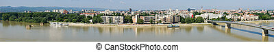 Panoramic cityscape of Novi Sad, Serbia - Panoramic...