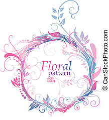 Floral pattern - Rounded floral pattern