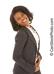 Sexy african businesswoman - Sexy young adult african...