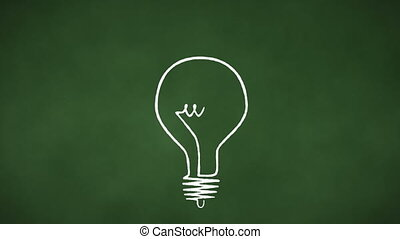 Light Bulb Loop - Light bulb draws on. Exactly 60 frames...