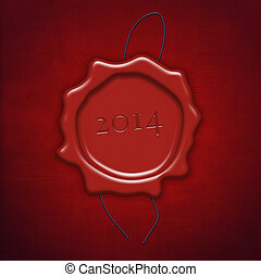 Red wax seal or stamp