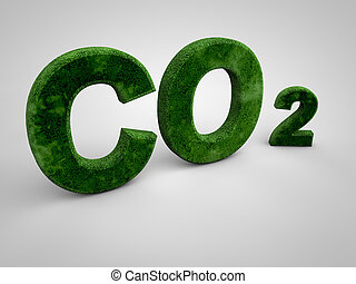 CO2 - Green co2 letters