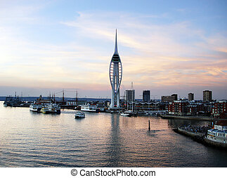 Portsmouth waterfront - The waterfront, Portsmouth at...