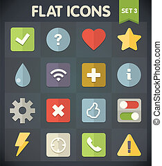 Flat Icons Set 3 - Universal Flat Icons for Web and Mobile...