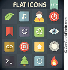 Flat Icons Set 9 - Universal Flat Icons for Web and Mobile...