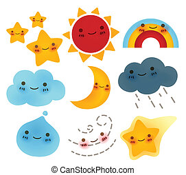 Collection of weather Icon - Vector File EPS10