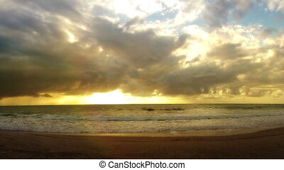 Time-lapse Sunrise on Brazil Beach - Time-lapse Sunrise on a...